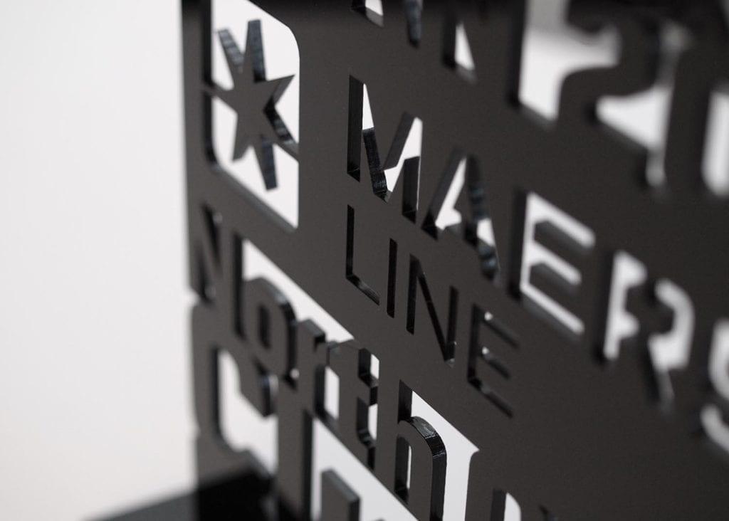 Laserudskåret akrylopsats