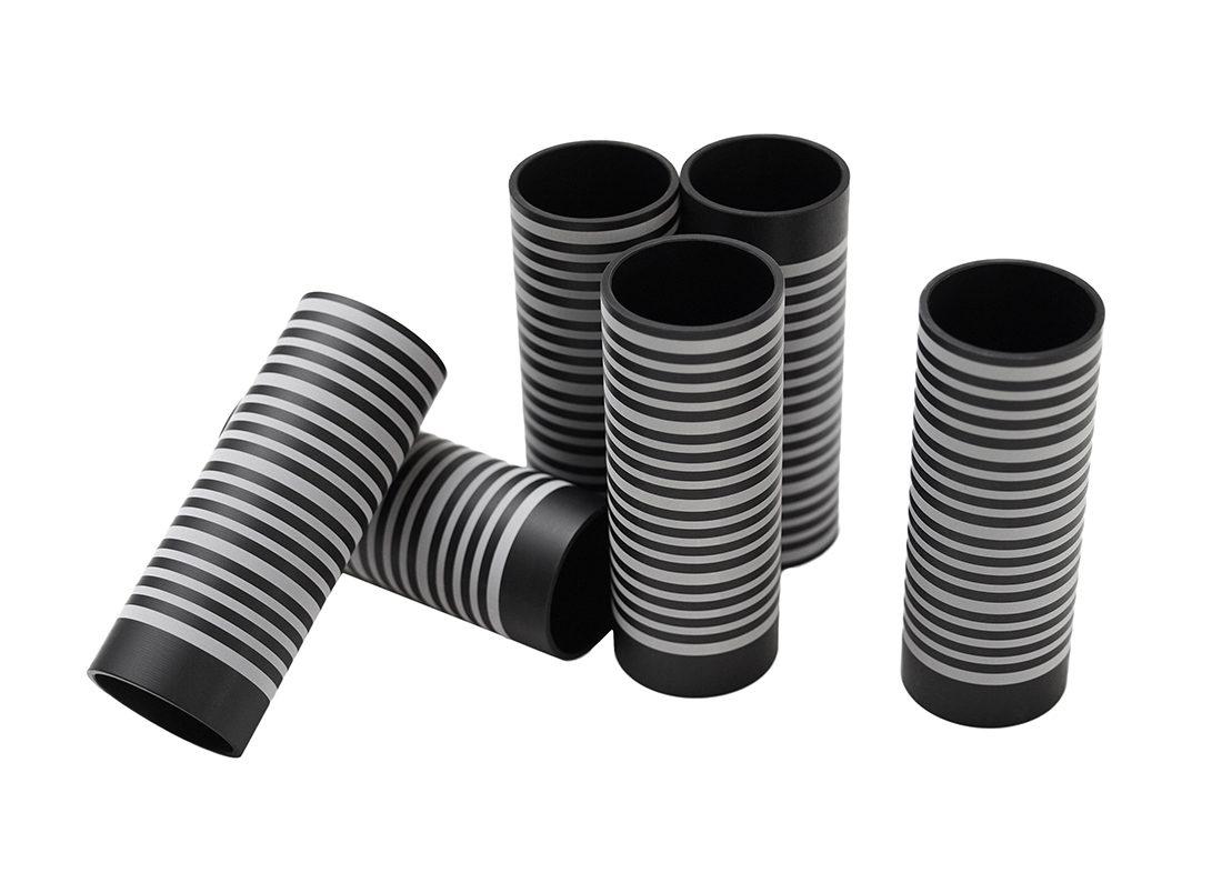 Graverede aluminium cylindere