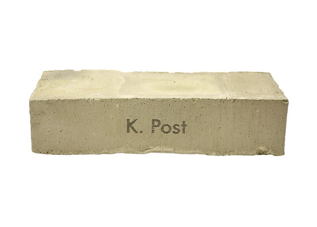 Gravering af tekst i mursten