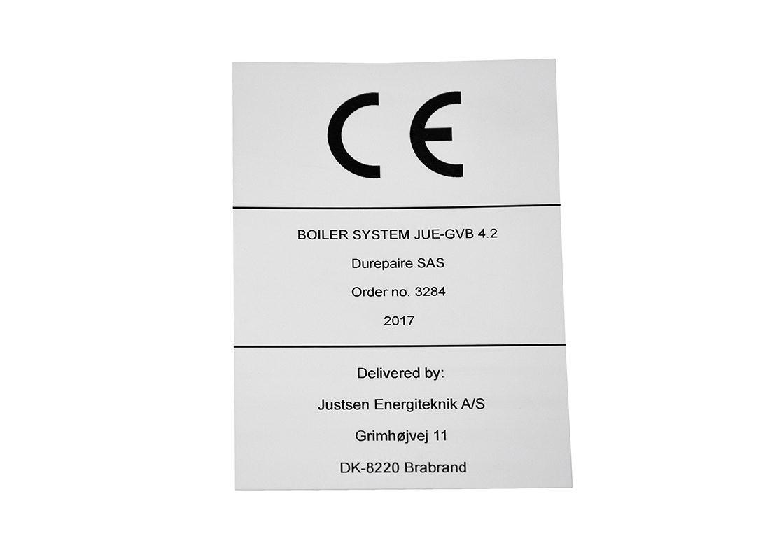 Industriskilt i plast - CE-mærkning