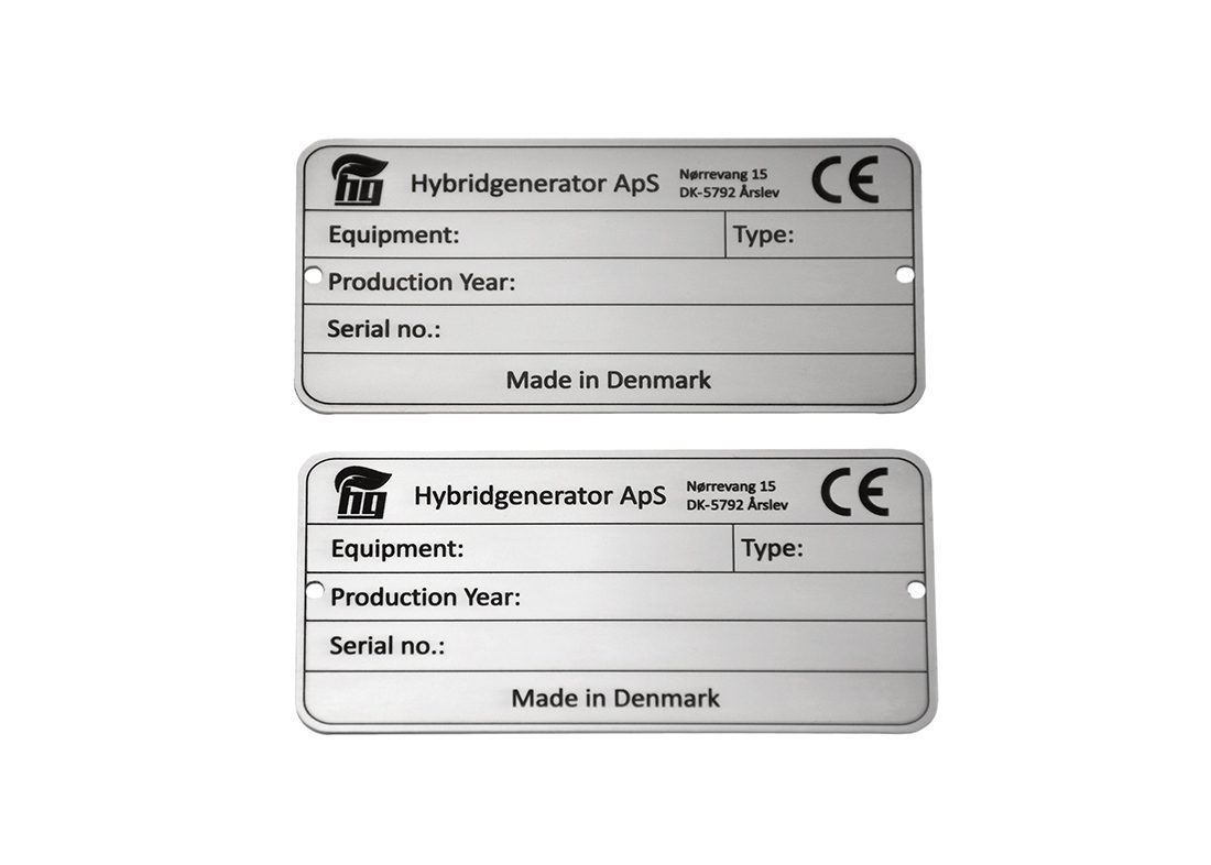 Industriskilte til CE mærkning