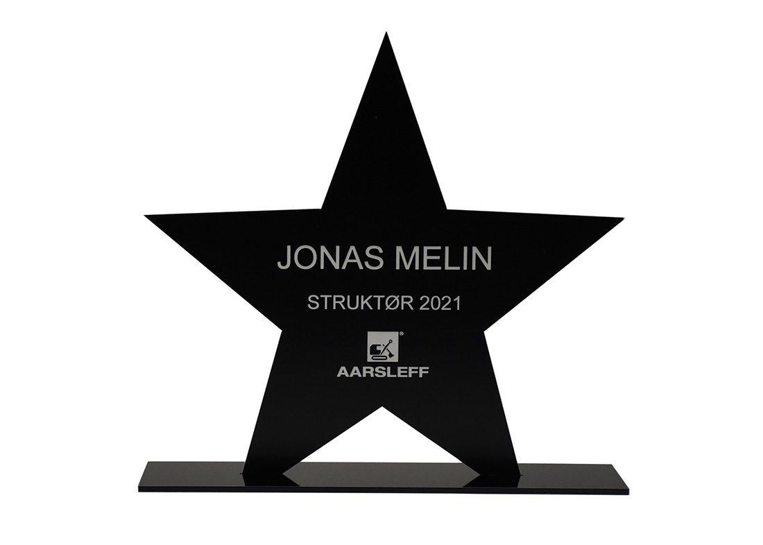 laserskåret award i plast