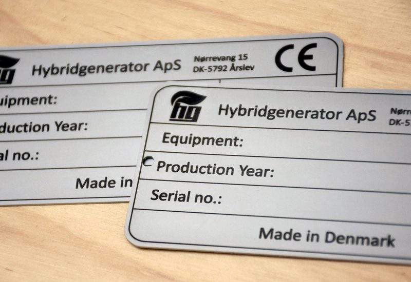 Industri skilte i rustfri stål - CE